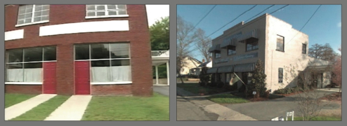At left, the Eden Street building shortly after Little Rascals closed; at right, the building in 2008.